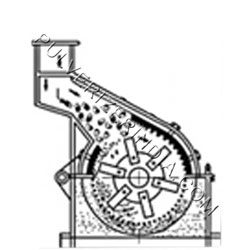 Bottom Discharge Hammer Mill section view